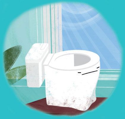 Bad Symptoms, image of toilet